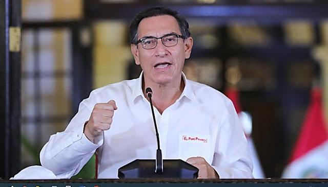 Todo acto de corrupción durante emergencia tendrán un castigo ejemplar dice presidente Vizcarra