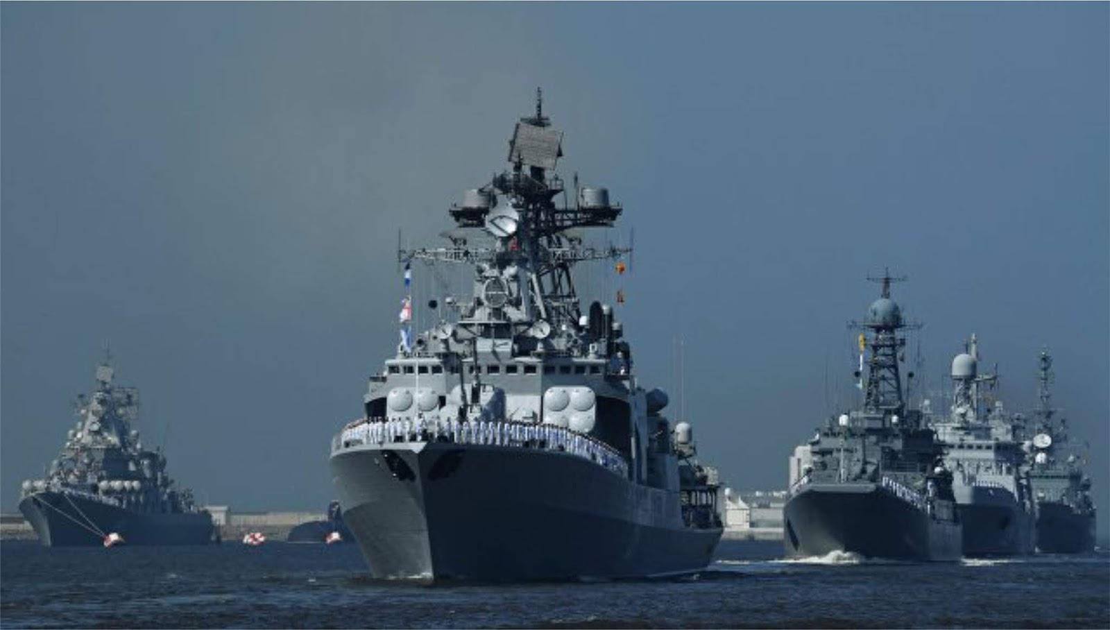 Rusia akan melakukan latihan perang skala besar di Laut Mediterania