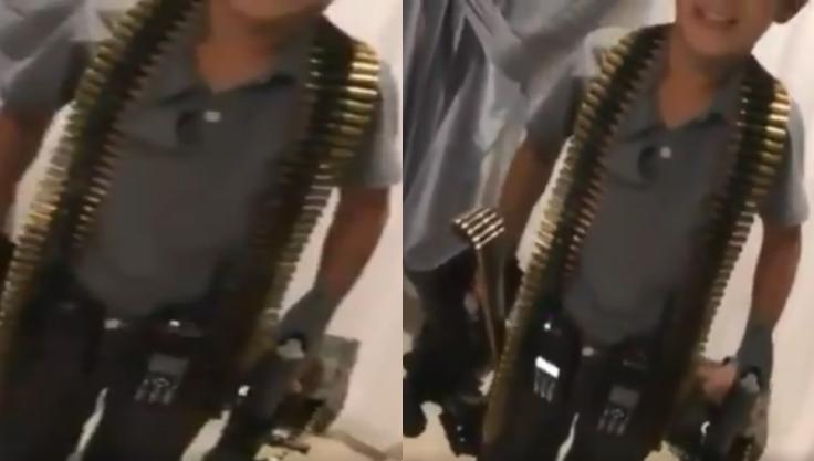 """""""Pónganse V..rga"""", """"El Plebito"""" el niño sicario del Cártel de Sinaloa que se exhibe armado y envuelto en balas amenazando al Cártel del Noroeste"""