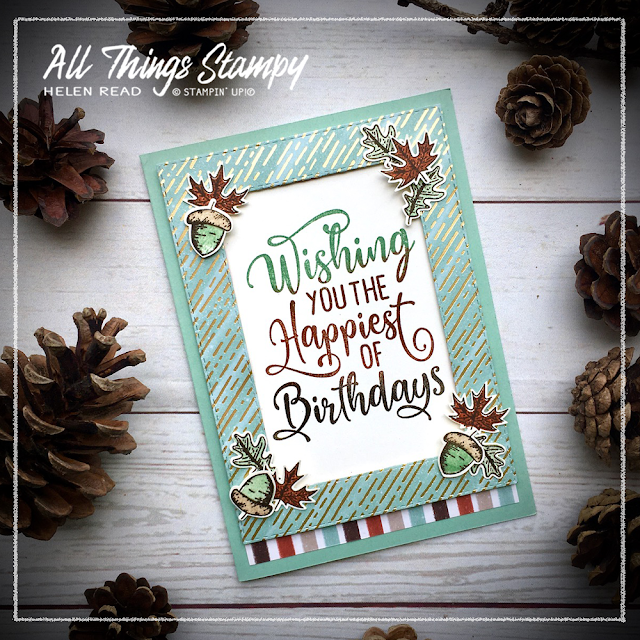 Gilded Autumn Beautiful Autumn Stampin Up Helen Read Allthingsstampy