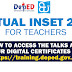 INSET 2021 for Teachers (How to access talks and earn digital certificates via training.deped.gov.ph)