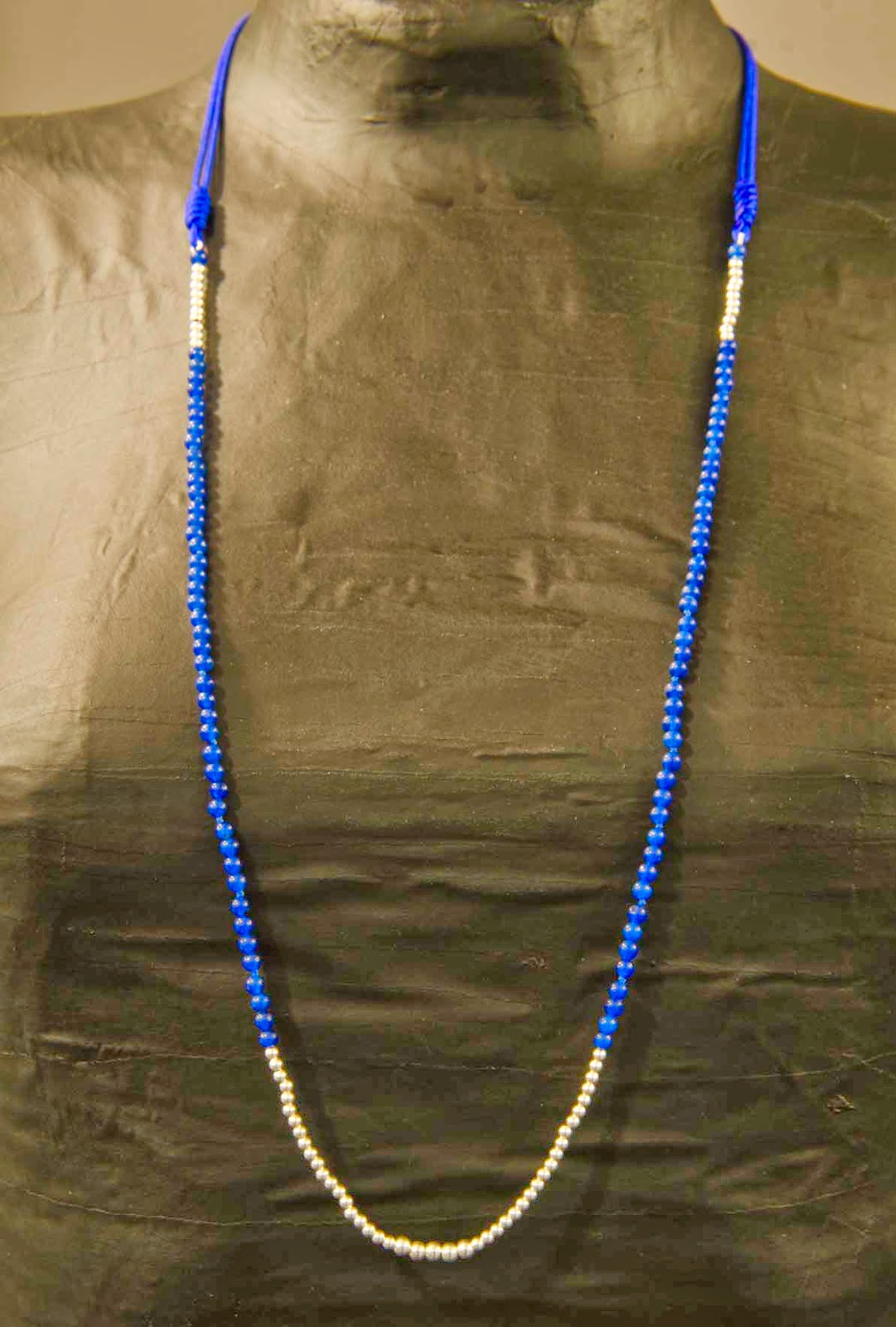 Collar plata y jade azul