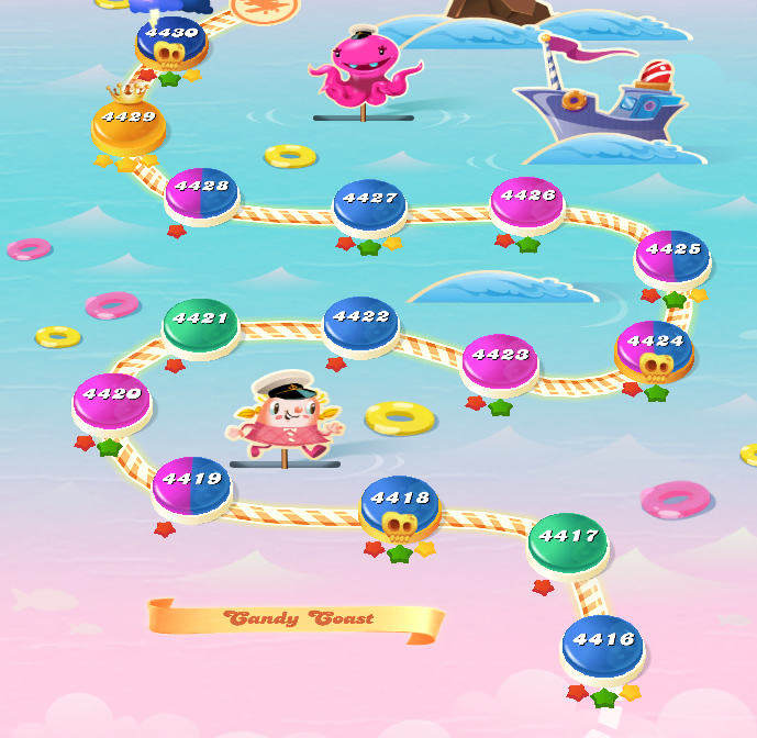 Candy Crush Saga level 4416-4430