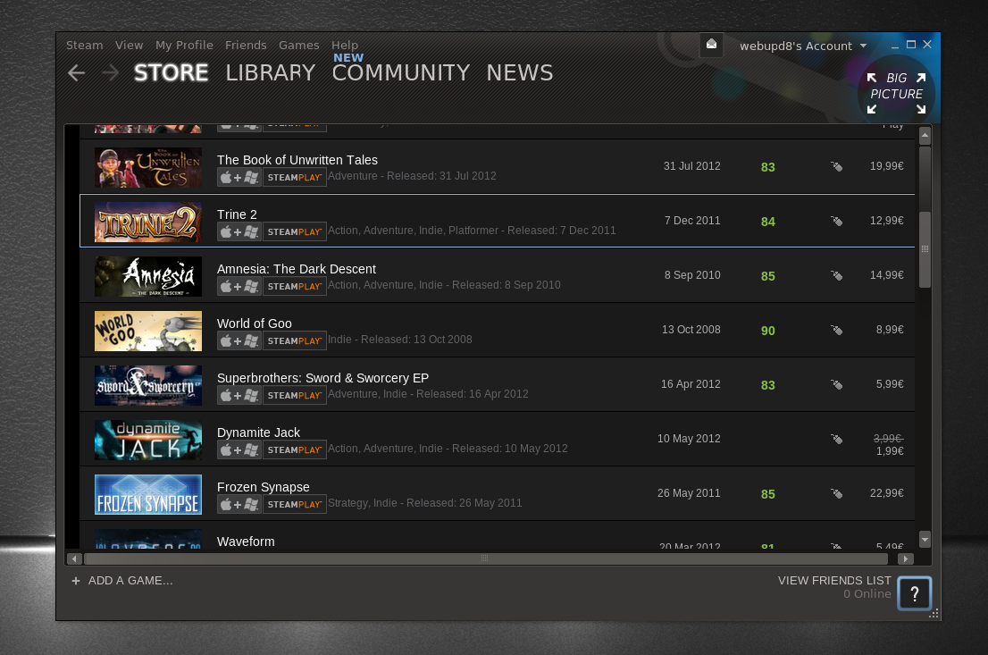 Steam For Linux: Download The First Ubuntu-Like Skin ~ Web Upd8