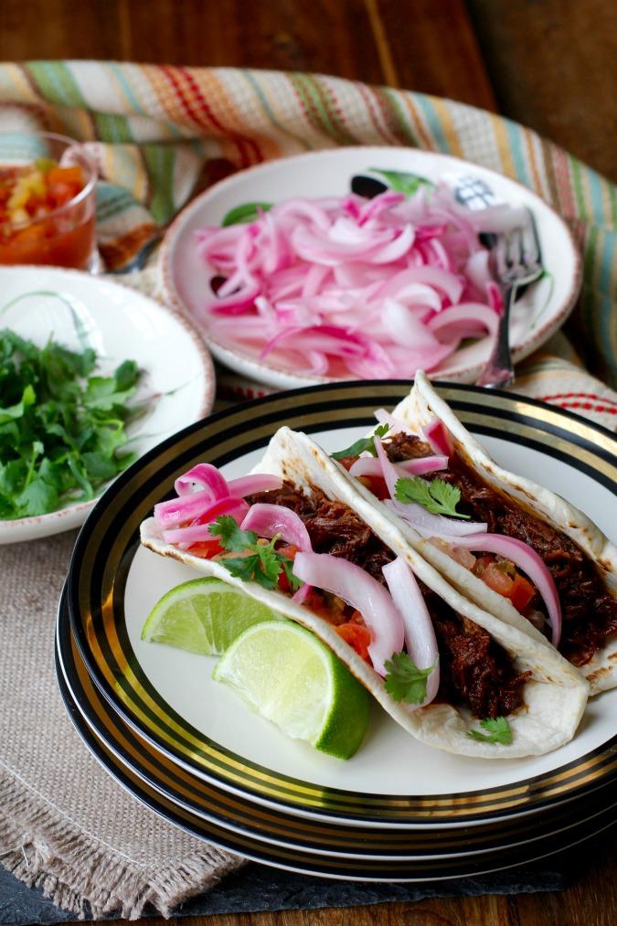 Guajillo-Braised Beef Short Rib Tacos
