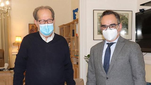 Το αίτημα για Νοσοκομείο στην Αργολίδα μετέφερε ο Π. Νίκας στον υφυπουργό Υγείας Β. Κοντοζαμάνη