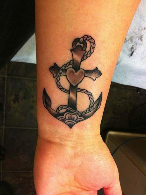 kalpli çapa erkek bilek dövmeleri wrist tattoos for men