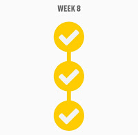 Couch to 5k Week 8 Completion Badge