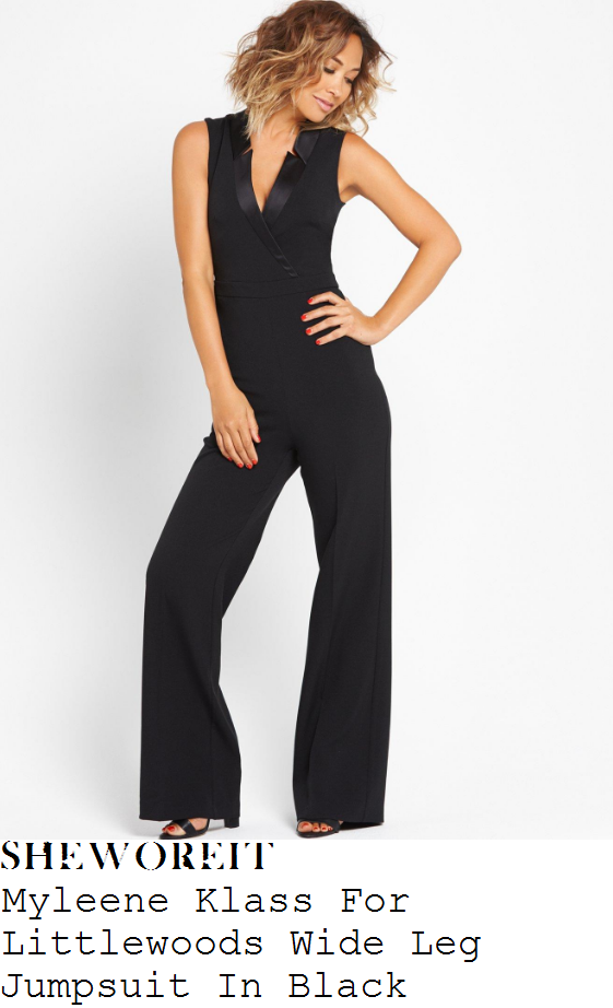 myleene-klass-myleene-klass-for-littlewoods-black-sleeveless-plunge-wrap-front-satin-lapel-detail-wide-leg-jumpsuit