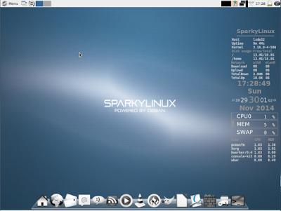 SparkyLinux توزيعة
