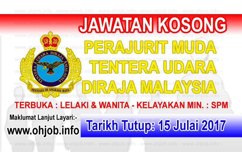 Jawatan Kerja Kosong Tentera Udara DiRaja Malaysia - TUDM logo www.ohjob.info julai 2017