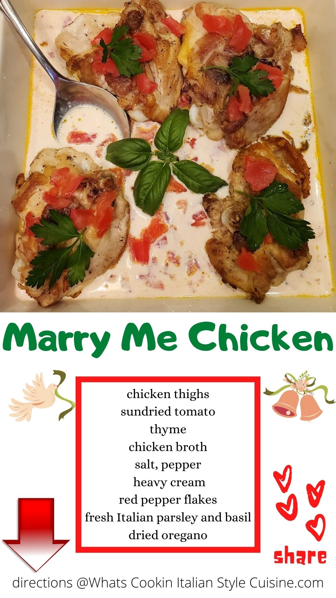 pin for later marry me chicken recipe