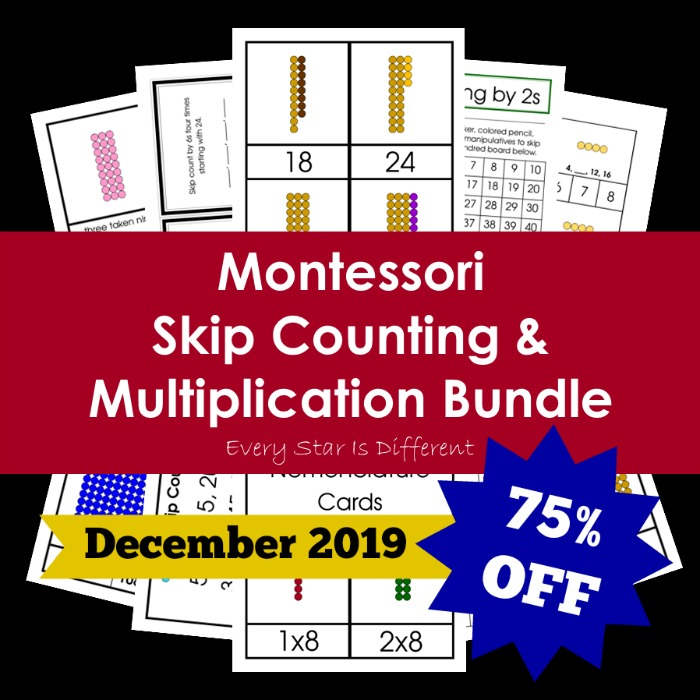 Montessori Skip Counting and Multiplication Bundle