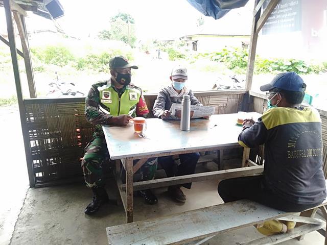 Himbau Tetap Patuhi Protokol Kesehatan Dilakukan Personel Jajaran Kodim 0207/Simalungun Dengan Cara Komsos