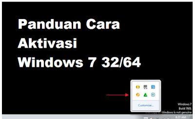 Panduan Cara Aktivasi Windows 7 32/64