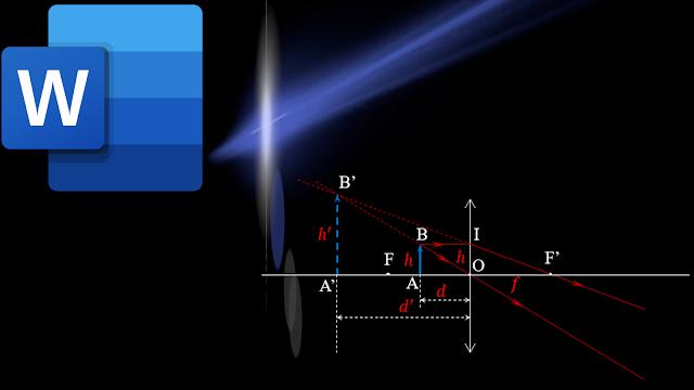 Bức ảnh mô tả một chùm sáng đi qua một thấy kính dưới dạng mờ ảo