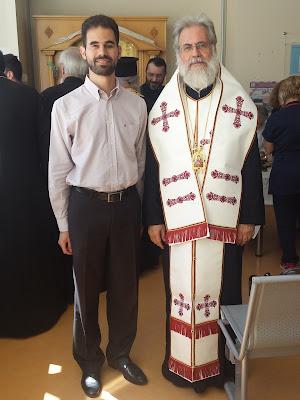 Ο Βαγγέλης Αυγουλάς και ο Μητροπολίτης Ιλίου Αχαρνών και Πετρουπόλεως Σεβασμιότατος κ. Αθηναγόρας