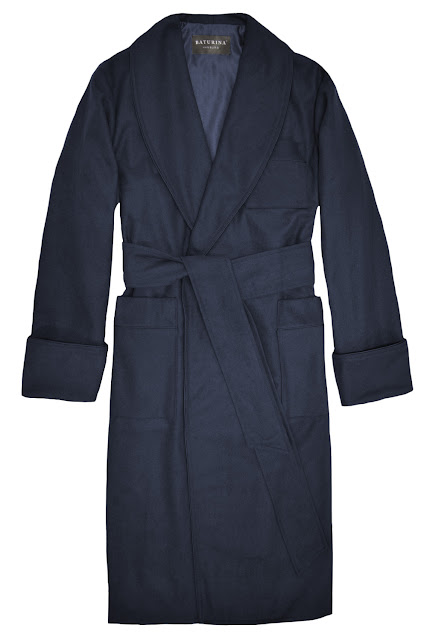 mens wool dressing gown robe dark navy blue smoking jacket extra warm long floor length robes cashmere