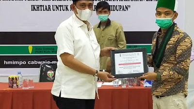 Bupati Amran Mahmud Jadi Pembicara Intermediate Training Nasional HMI MPO Cabang Wajo
