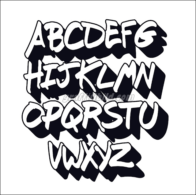 ABC graffiti buchstaben, graffiti alphabet styles