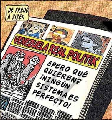 Front page tipo cómic Venezuela