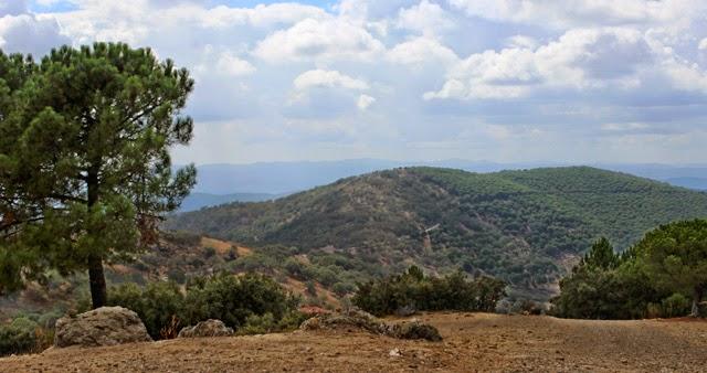 Cumbre de los Bonales, desde el cerro de Tentudía
