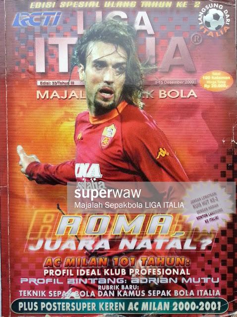 GABRIEL BATISTUTA AS ROMA FOOTBALL MAGAZINE