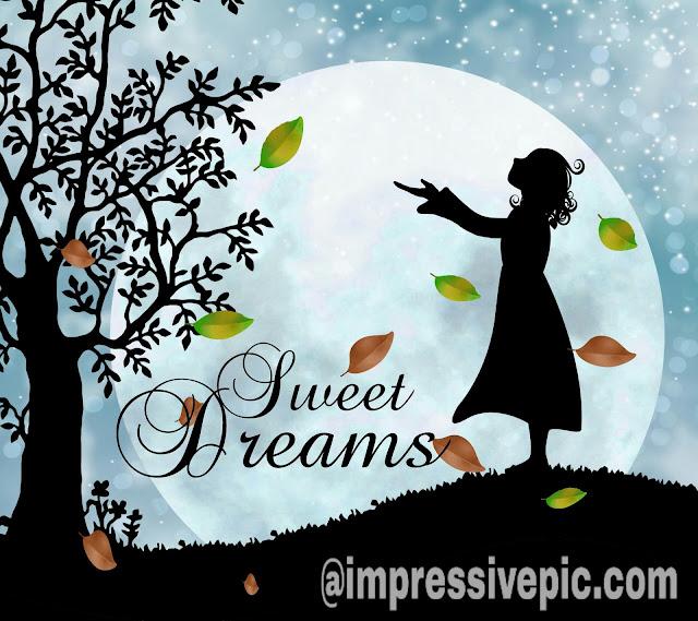 Sweet dreams good night image for WhatsApp