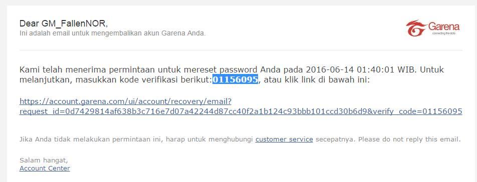 Garena Account password hack
