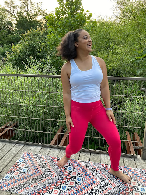 Fabletics High-Waisted SculpKnit Classic Legging and Mina Tie-Up Tank