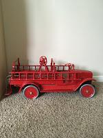 metal fire truck