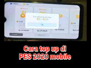 Cara top up PES mobile