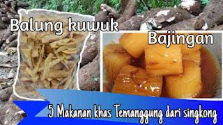Makanan/kuliner khas temanggung jateng
