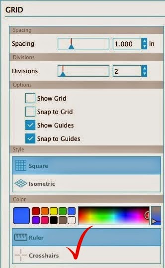 Silhouette Studio, turn off, crosshairs, Silhouette tutorial, troubleshooting, grid options