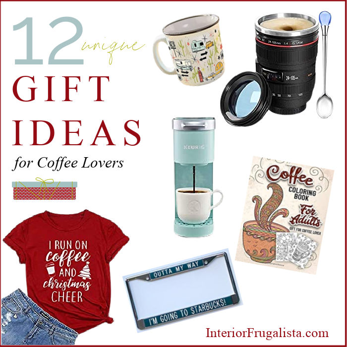 Get a head start on your Christmas shopping with these twelve unique gift ideas for the Coffee Lover on your list. A convenient holiday gift guide.