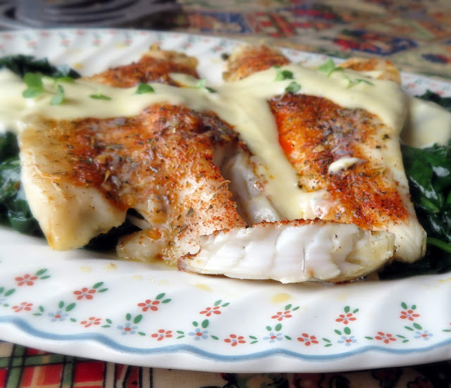 Baked Sea Bass with a Lemon Parmesan Cream
