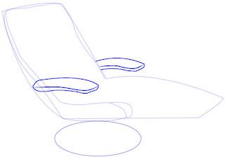 Cara praktis menggambar Recliner (Sofa)