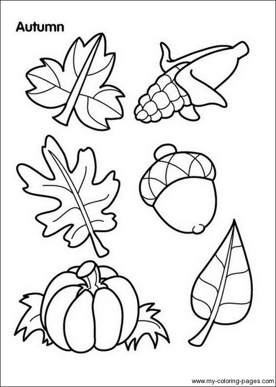 Autumn Coloring Pictures ~ Autumn Crafts Picture
