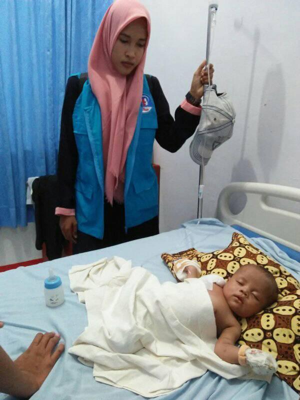 Bocah dari Aceh Utara, Menderita Tumor Di Usia 44 Hari