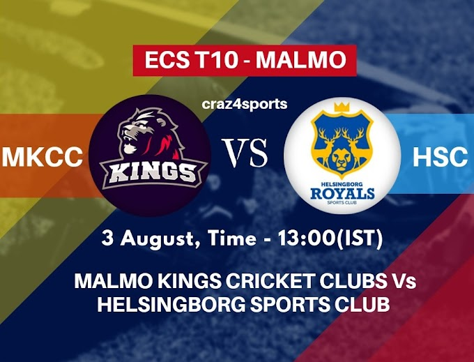 MKCC VS HSC Dream11 prediction | MALMO KINGS CRICKET CLUBS Vs HELSINGBORG SPORTS CLUB | Dream11 ECS T10 MALMO | Top picks | Players stats | Pitch Report | Dream Team