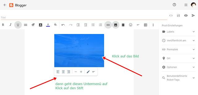 Blogger Layout Bildgröße anpassen
