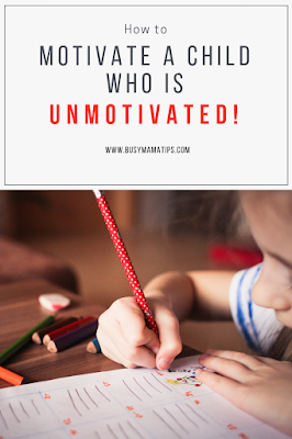 Photo of child studying with title: how to motivate a child who is unmotivated