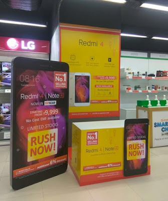 xiaomi redmi note 4 and redmi 4 available in Big Bazaar market india