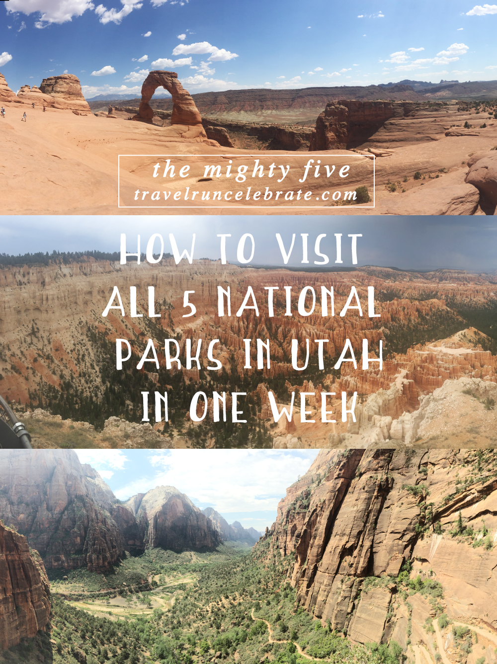 a week in utah: how to visit all 5 national parks - travel run celebrate