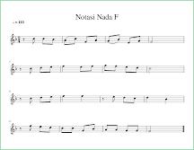 gambar notasi balok nada f