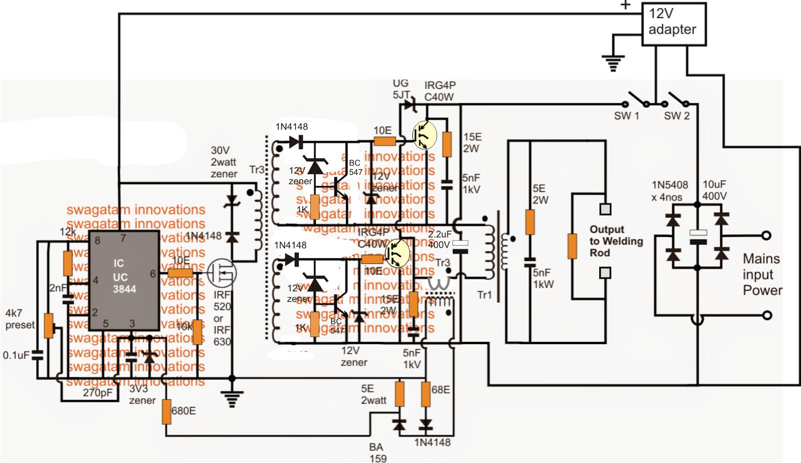 smps welding inverter circuit