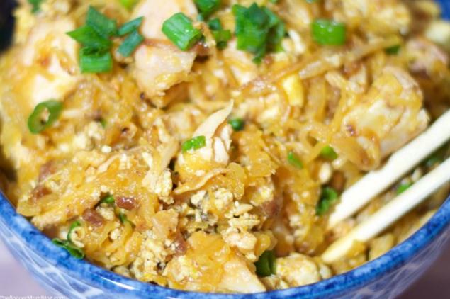 Spaghetti Squash Pad Thai #dinner #keto #dinner #paleo #glutefree