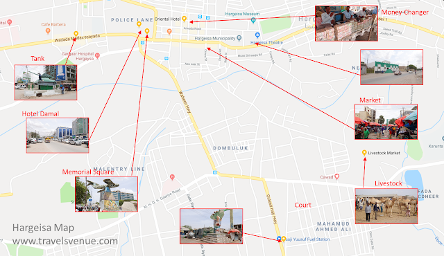Guide Map of City Hargeisa in Somaliland