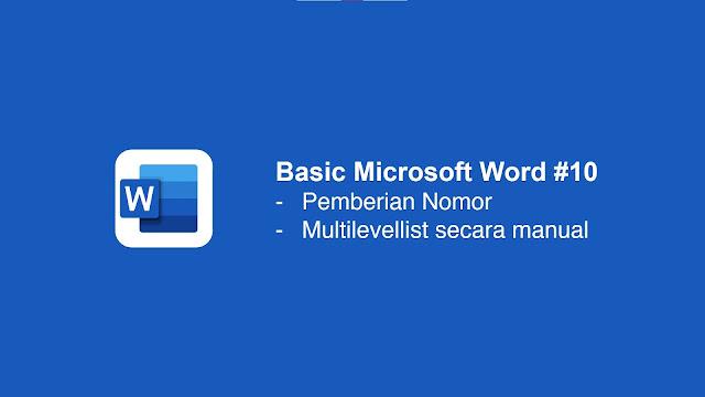 Cara memberi nomor di Microsoft Word