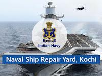 Naval Ship Repair Yard Kochi Job Vacancies 2021